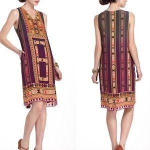 Anthropologie Tanvi Kedia patterned shift dress